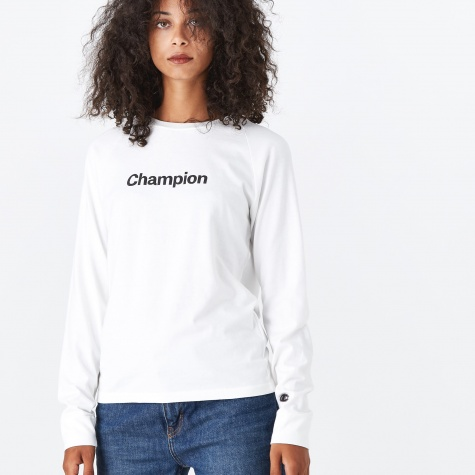Champion Black Long Sleeve T-Shirt - Off White