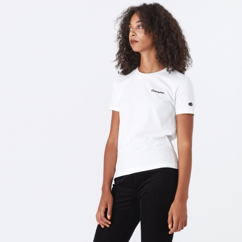 Champion Black Short Sleeve T-Shirt - Off White