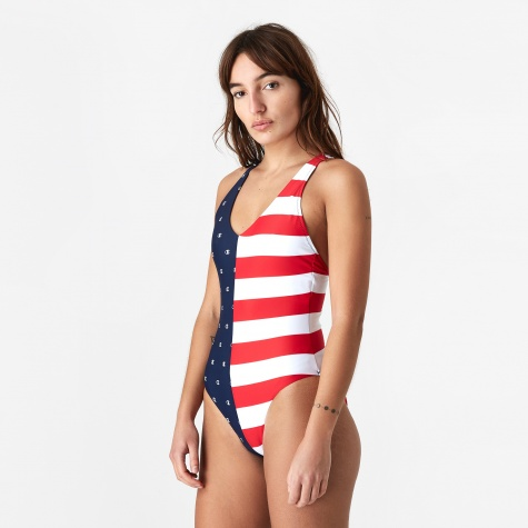 Champion Stripe Swimsuit - Navy/All Over Print