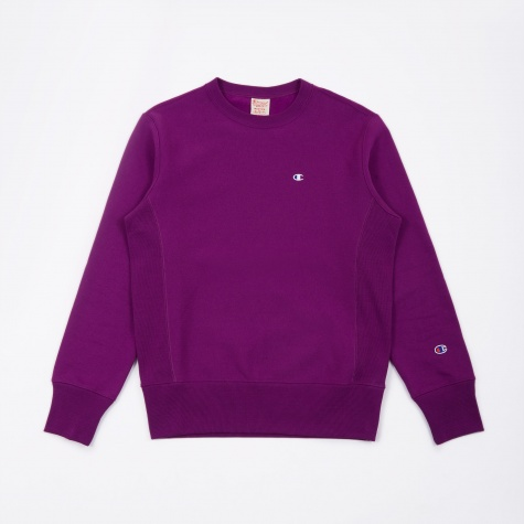 Reverse Weave Crewneck Sweatshirt - Deep Purple