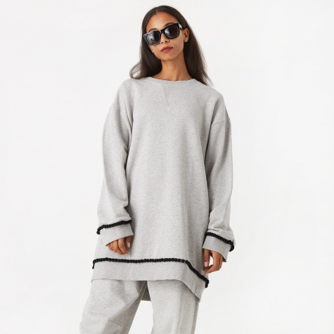 Bobble Trim Sweatshirt - Grey