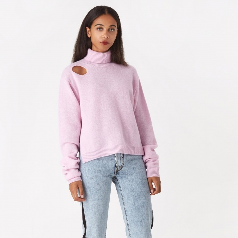 Split Lambswool Jumper - Pink
