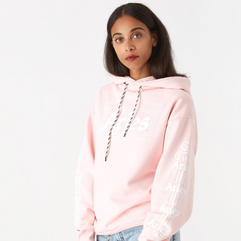 Column Hooded Sweatshirt - Pink