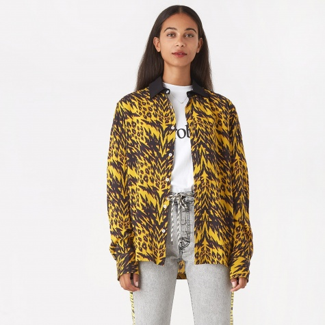 Gomorra Animal Print Shirt - Yellow