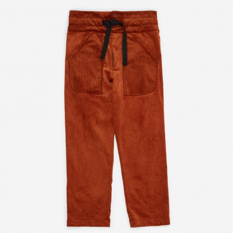 Pullcord Trouser - Dark Orange