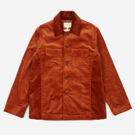 70s Shirt Jacket - Dark Orange