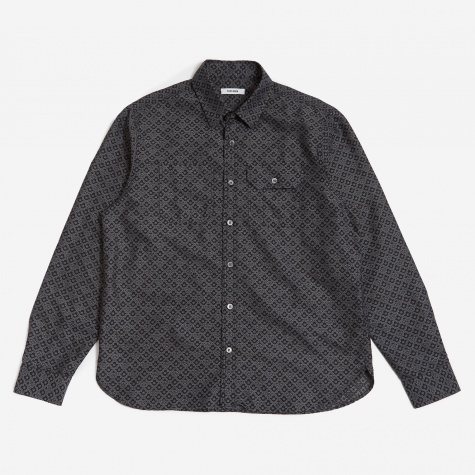Tres Bien Jacquard Work Shirt - Black