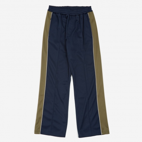 Tres Bien Dual Fabric Athlete Trouser - Navy/Olive
