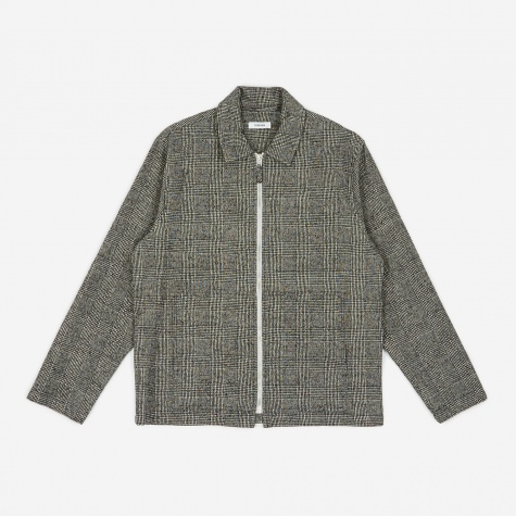 Tres Bien Wool Zip Blouson - Light Grey