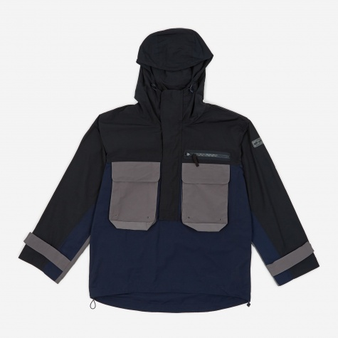 Tres Bien Colour Block Anorak - Navy