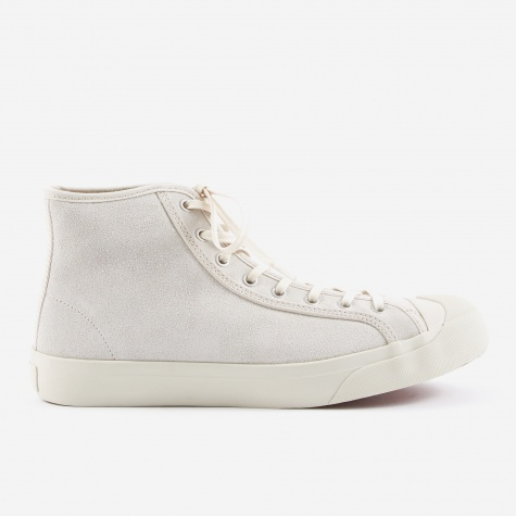 Wing Tip Suede Boot - Off White