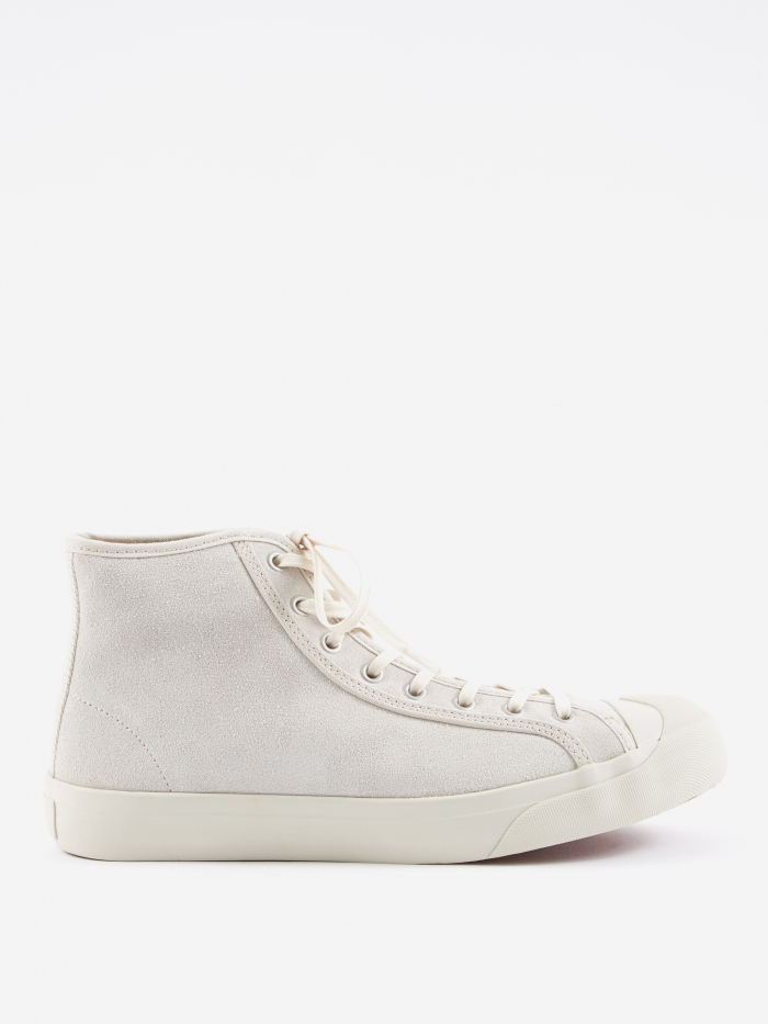 YMC Wing Tip Suede Boot - Off White (Image 1)