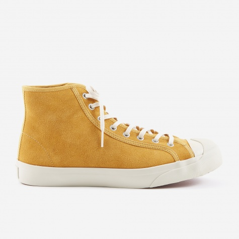 Wing Tip Suede Boot - Yellow