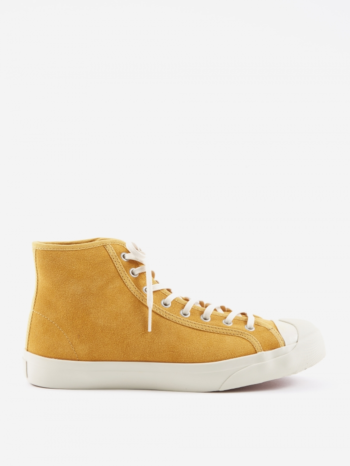 YMC Wing Tip Suede Boot - Yellow (Image 1)