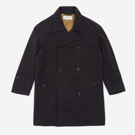 Double Breasted Coat - Navy