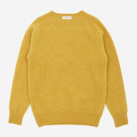 Suedehead Crewneck Jumper - Yellow