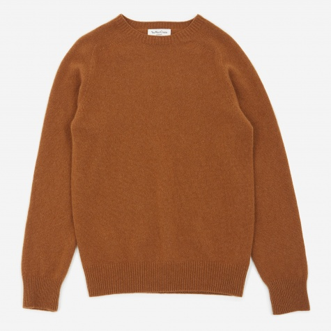 Luddites Crewneck Jumper - Brown