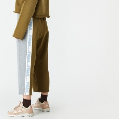 PAM Perks And Mini Air Cycle Cropped Sweatpants - Olive Drab Mul