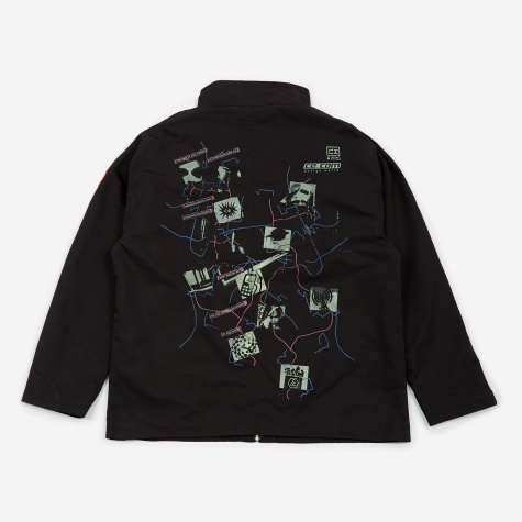 C.E Cav Empt Design World Zip Jacket - Black