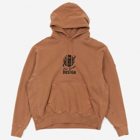 C.E Cav Empt Globe Heavy Hooded Sweatshirt - Brown