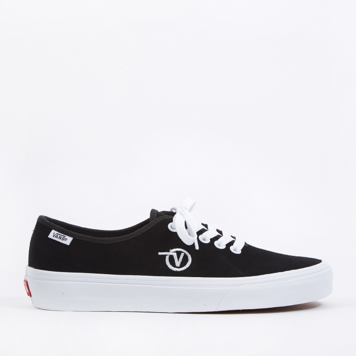 Vans Authentic One Piece - (Circle V) Black/Suede (Image 1)
