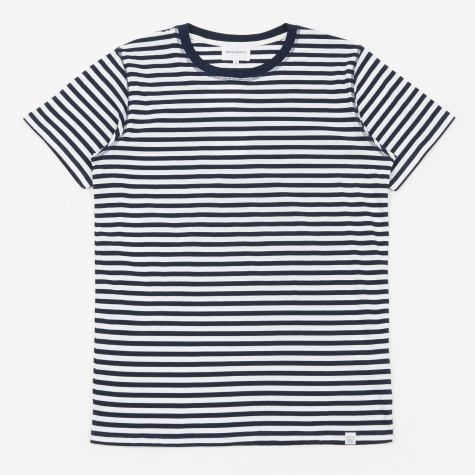 Niels Classic Stripe T-Shirt - Dark Navy