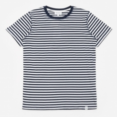 Norse Projects Niels Classic Stripe T-Shirt - Dark Navy