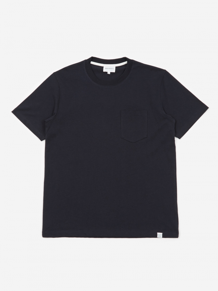 Norse Projects Johannes Pocket T-Shirt - Dark Navy (Image 1)