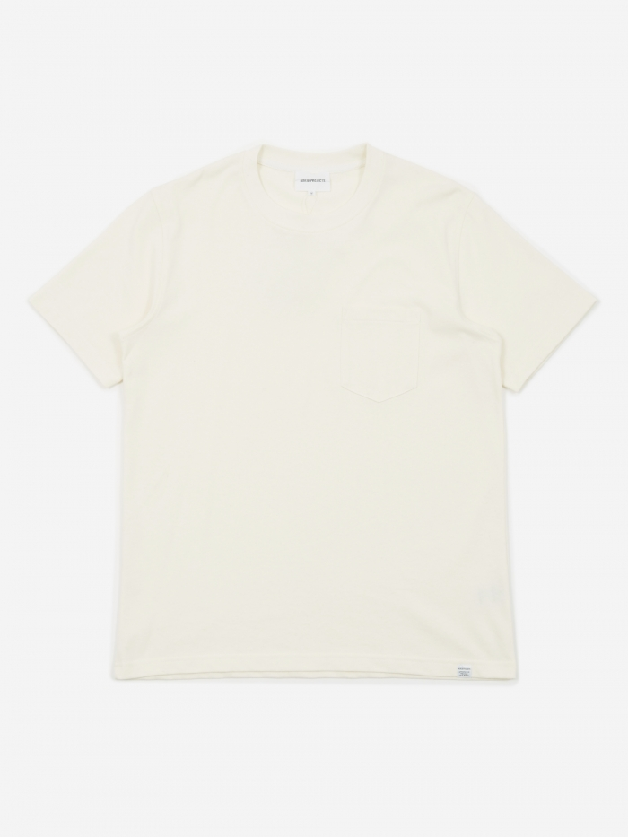 Norse Projects Johannes Pocket T-Shirt - Ecru (Image 1)