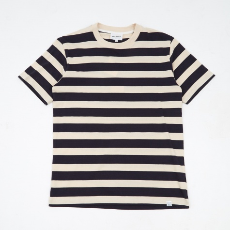 Johannes Rugby Stripe T-Shirt - Navy