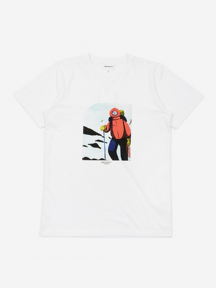 Norse Projects x Daniel Frost Mountaineer T-Shirt - White (Image 1)