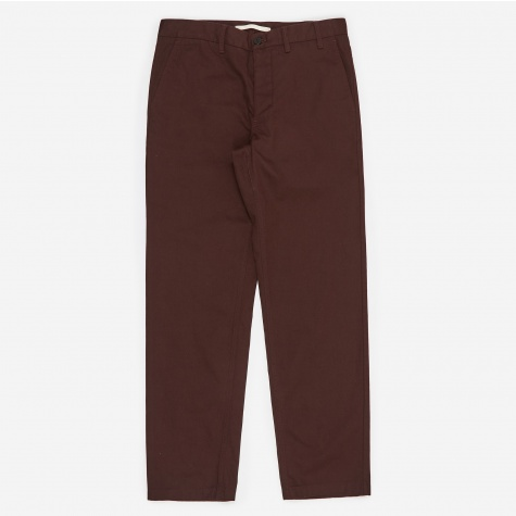 Aros Heavy Trouser - Egglant Brown