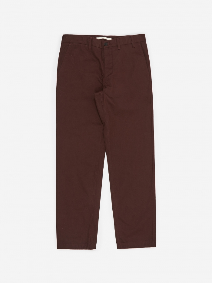 Norse Projects Aros Heavy Trouser - Egglant Brown (Image 1)