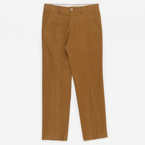 Haga Brushed Moleskin Trouser - Camel