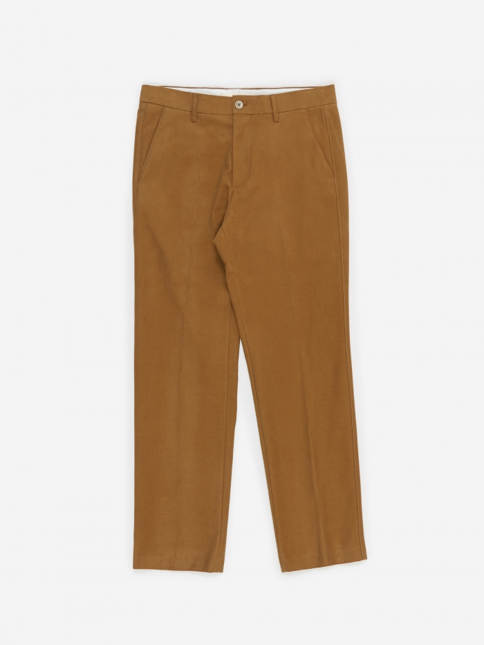 Norse Projects Haga Brushed Moleskin Trouser - Camel (Image 1)