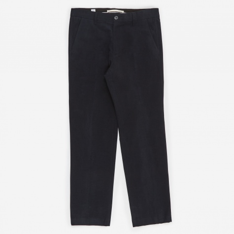 Haga Brushed Moleskin Trouser - Dark Navy