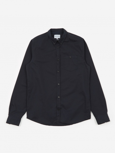 Anton Twill Shirt - Dark Navy