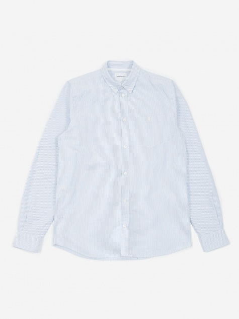Anton Oxford Shirt - Blue Stripe