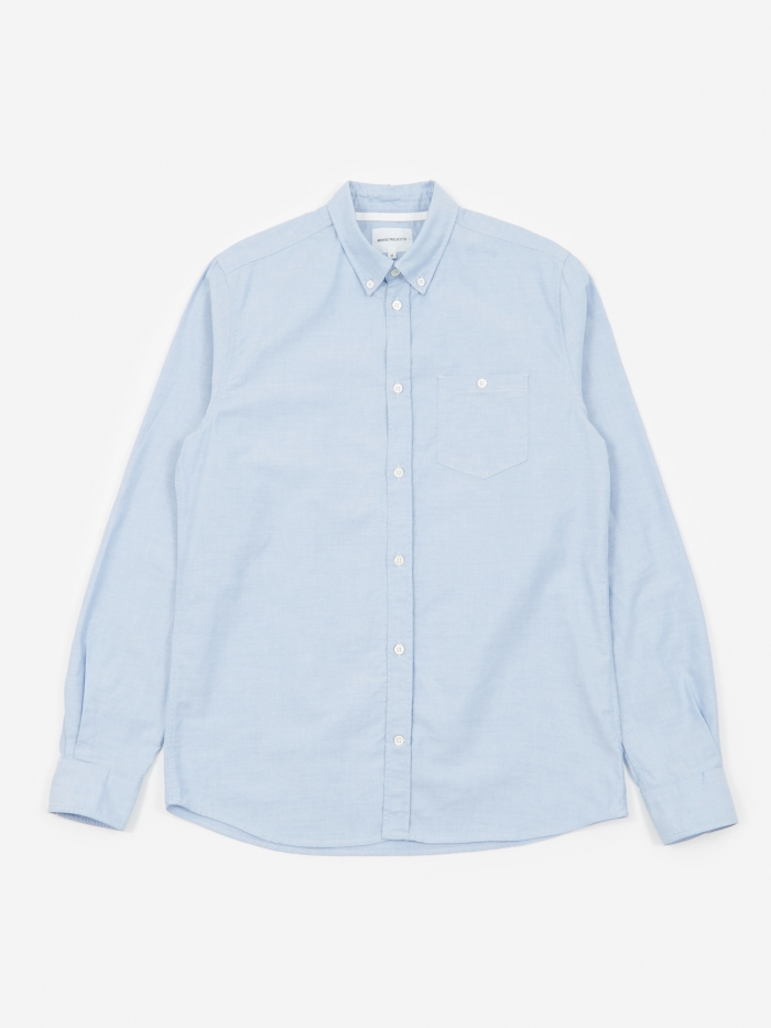 Norse Projects Anton Oxford Shirt - Pale Blue (Image 1)