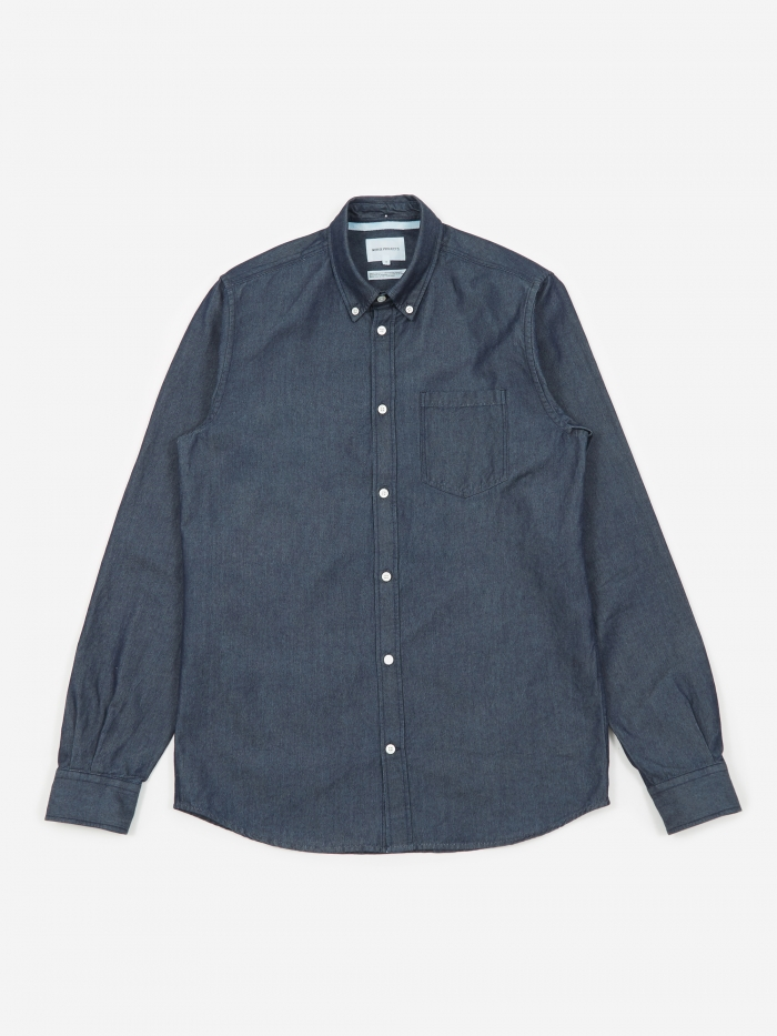 Norse Projects Anton Denim Shirt - Rinsed (Image 1)