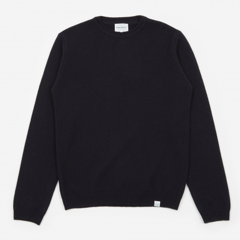 Sigfred Lambswool Jumper - Dark Navy