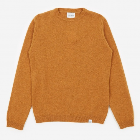 Sigfred Lambswool Jumper - Mustard Yellow
