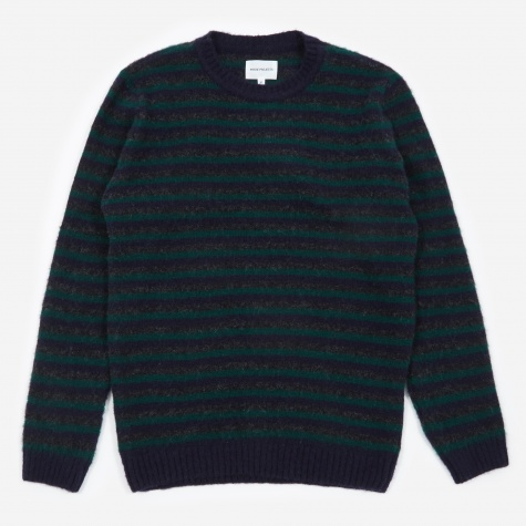 Sigfried Brushed Stripe Jumper - Dark Navy
