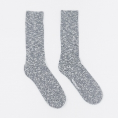 Norse Projects Ebbe Melange Socks - Dark Navy