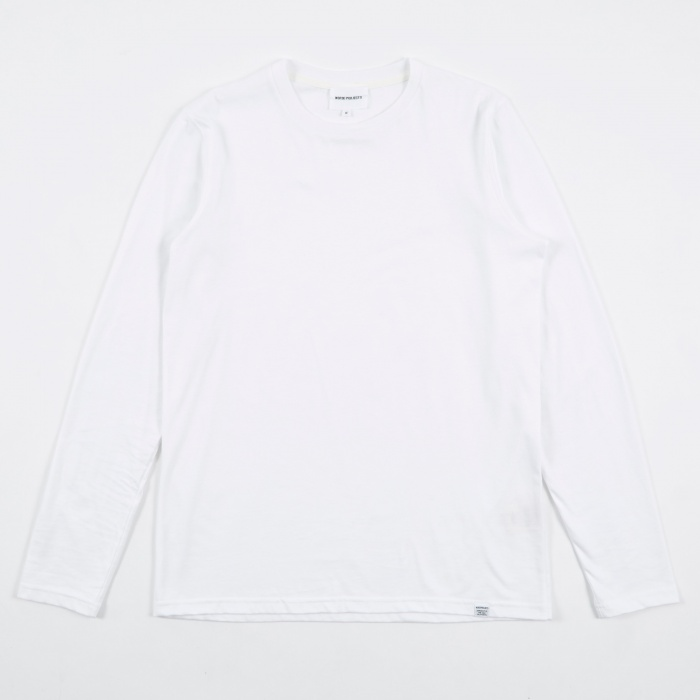 Norse Projects Niels Standard Longlseeve T-Shirt - White (Image 1)