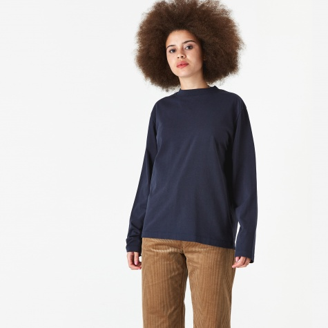 Dorthea Skate Jersey Long Sleeve T-Shirt - Navy