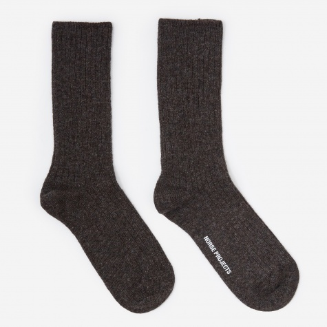 Siggy Lambswool Socks - Camel