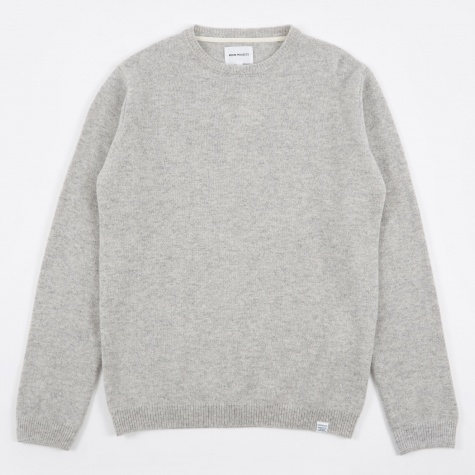 Sigfred Lambswool Knit - Light Grey Melange