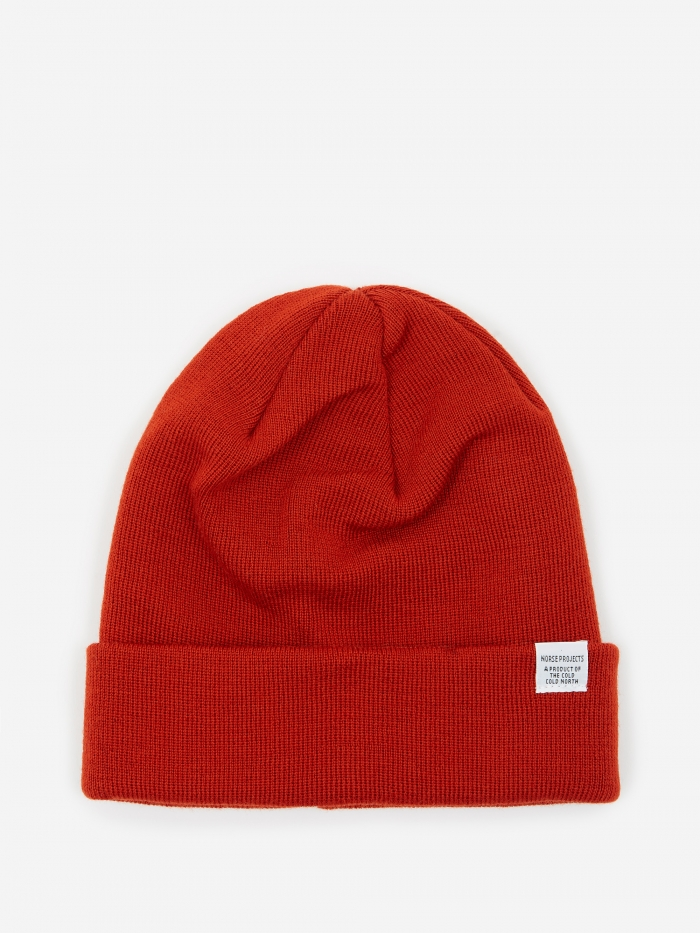 Norse Projects Top Beanie - Oxide Orange (Image 1)