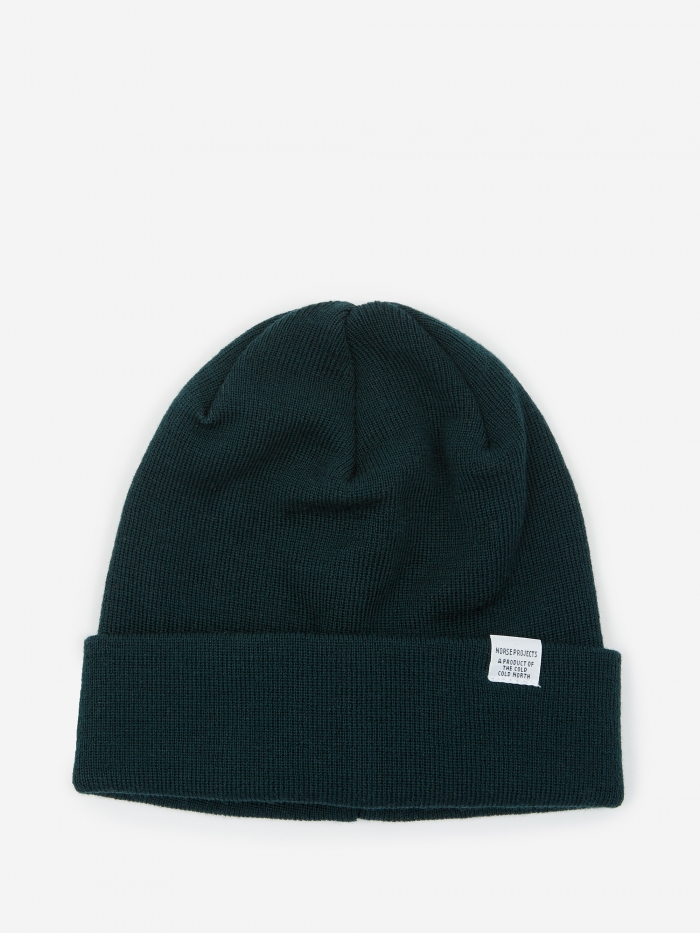 Norse Projects Top Beanie - Quartz Green (Image 1)